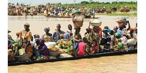 Des population déplacées