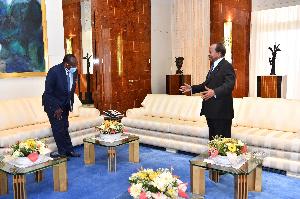 Paul Biya a reçu en audience le représentant spécial du Secrétaire général des Nations Unies