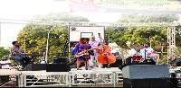 Des artistes des groupes Ruben Binam -Kemit 7 et Camille Thurman and Darrell Green Trio au campus