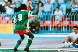 Roger Milla, ancien international Camerounais