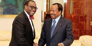 Paul Biya et le président de la BAD