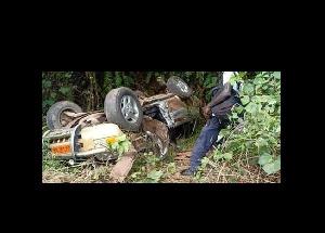 Vue de la voiture de l'accident