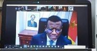 Voici à quoi ressemble une vidéo conférence avec Dion Ngute