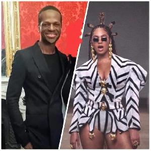 Beyoncé qui vient placer à nouveau celui-ci sur un piédestal.