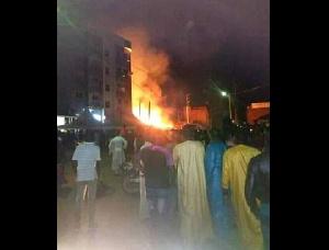 Vue du site en feu
