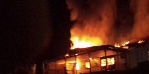 La résidence en feu