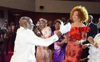 Nyangono Du Sud et Chanta Biya à la cérémonie des Canal d'Or
