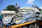 Maize imported from Tanzania is stored at Mombasa Maize Millers Ltd