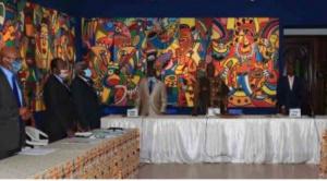 Réunion des rédacteurs de l'encyclopédie sur l'histoire du Cameroun