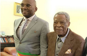 Eric Niat et son père Niat, président du Sénat