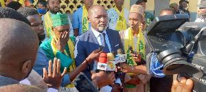 Célestin Djamen accuse ses détracteurs après le meeting de Deido