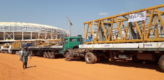 Vue du stade Paul Biya en chantier