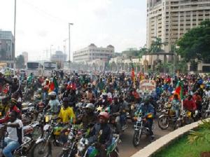 Les conducteurs de moto en colère