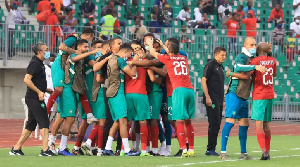 Les joueurs de l'Equipe du Maroc