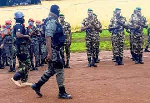 Le redoutable colonel Bamkoui descend au NOSO en tenue de guerre