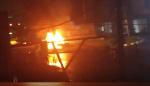 Accident grave de Tenor: les premières images de la voiture de l'artiste en feu