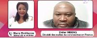Didier Mbend décédé en France suite à sa contamination au Coronavirus