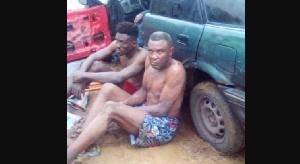 Les présumés membres du gang interpellés par la gendarmerie