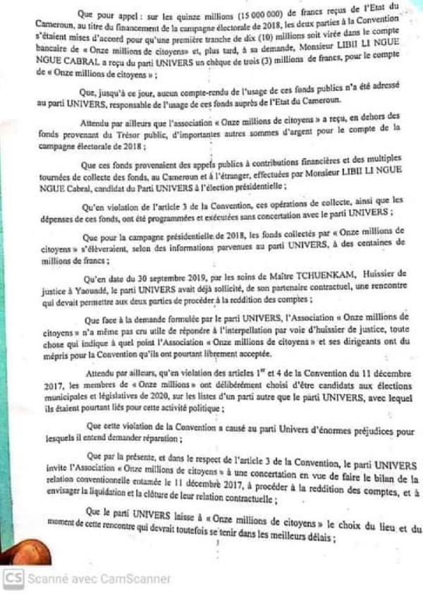 Accusation contre Libii