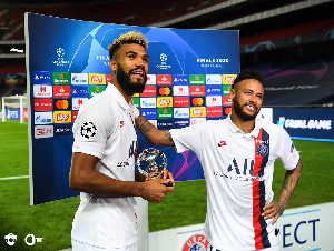 Choupo-Moting et Neymar