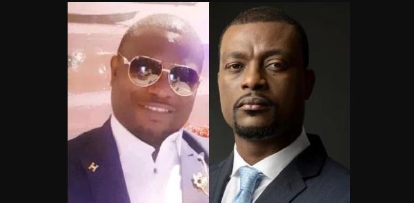 Le président Amot et Francis Mvemba