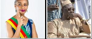 La Maire  Tomaino Ndam Njoya et le Sultan Ibrahim Mbombo Njoya