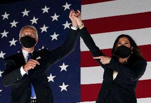 Joe Biden et Kamala Harris, les vainqueurs des présidentielles américaines