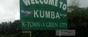 A l'entrée de la ville de Kumba