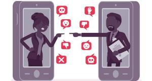 Illustration de discours haineux sur les réseaux sociaux