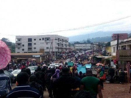 Mas protest in Bamenda