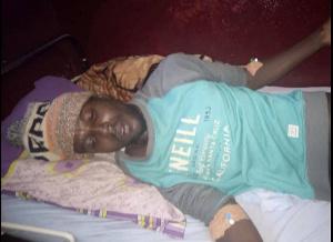 Le jeune homme actuellement à l'hôpital