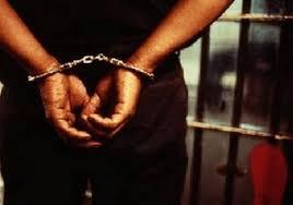 Après avoir arrêté le suspect, la police a également pris son arme comme pièce à conviction.