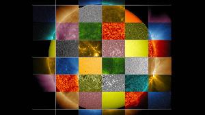 Des couleurs qu'on semble voir souvent quand on regarde le soleil
