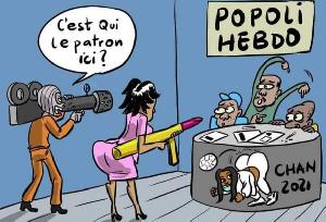Laq nouvelle  caricature du journal Popoli