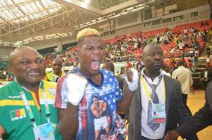 Le boxeur Dieudonné Wilfried Seyi