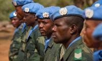 Des militaires du MINUSCA  en Centrafrique