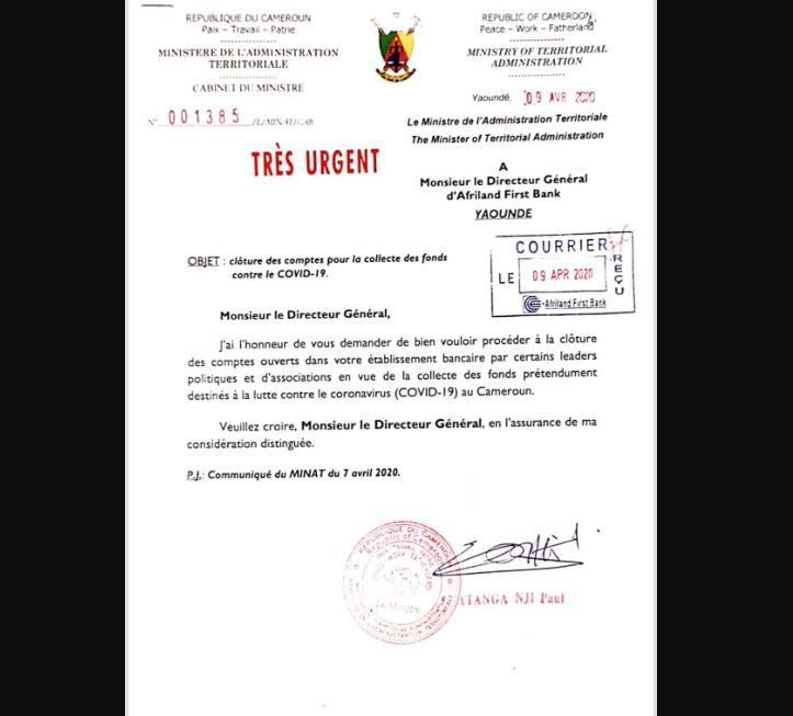 Cameroon Survival Kamto Atanga Nji Afriland First Bank