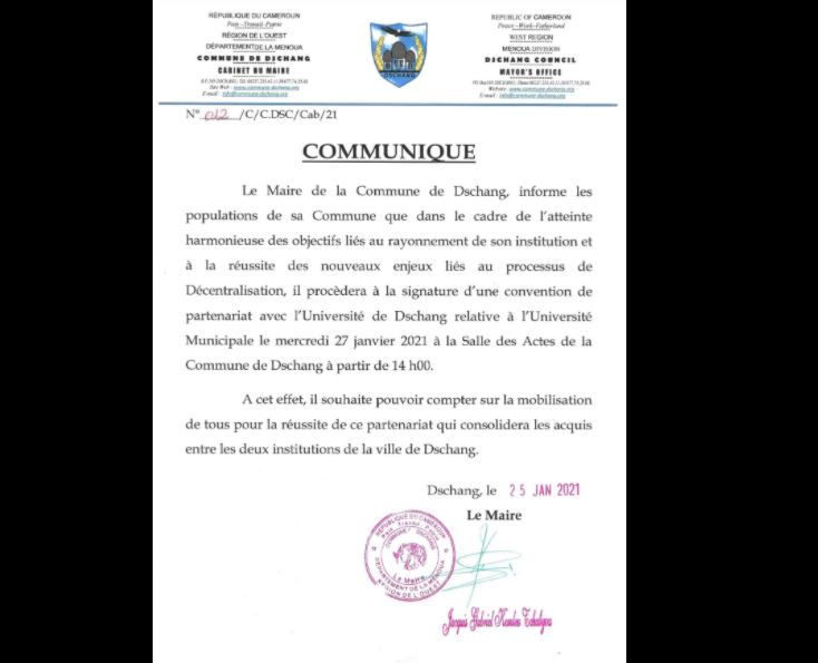 Commune_Dschang_Universite