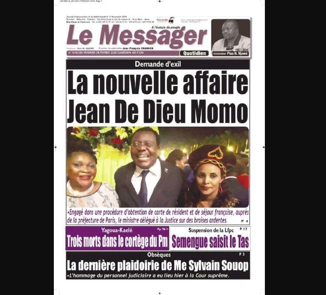 Damande d'exil, la nouvelle affaire Jean De Dieu Momo