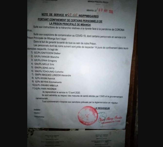 Panique à Kondengui après la mise en quarantaine de 11 gardiens