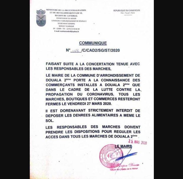 Marches Douala2 Coronavirus