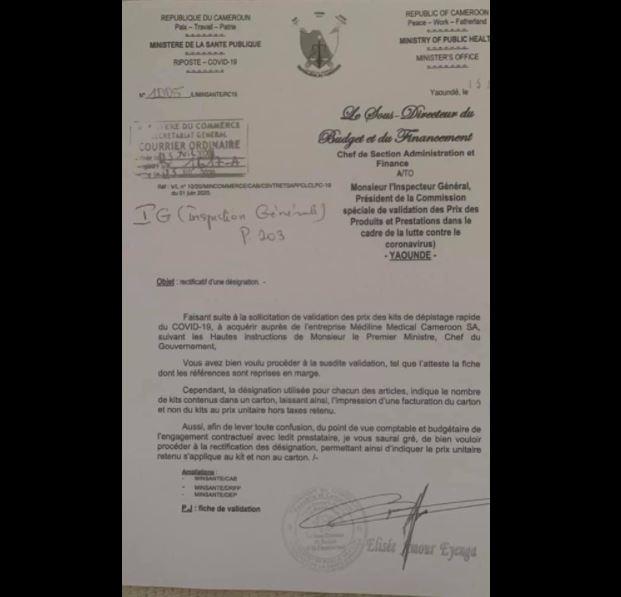Medeline_Medical_Cameroon_SA_Mbarga_Atangana_Facture