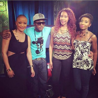 Stanley Enow and Nadine Patricia on #Tantine TV Show