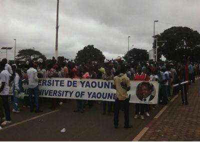 Marche des étudiants à Yaoundé pour remercier Biya