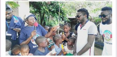 Tzy Panchak gives back to kids in Kumba