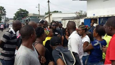 Cameroonians prevented to bid farewell to Monique [Photos]
