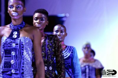 Cameroonian designer Nuvi at the Accra Fashion Week