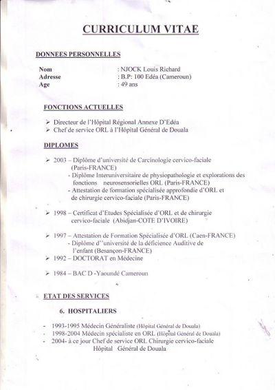 Voici le CV du nouveau DG de l'hôpital Laquintinie de Douala
