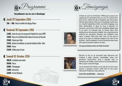 Programme des obsèques de Pipiyou Concept