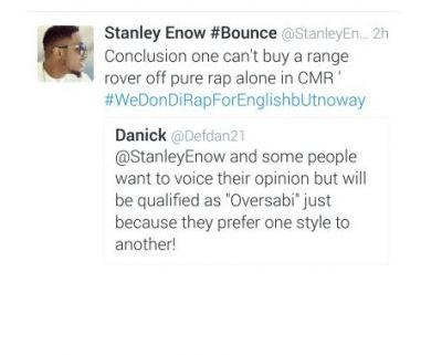 """'Follow Me"""" not a rap piece, Stanley replies"""